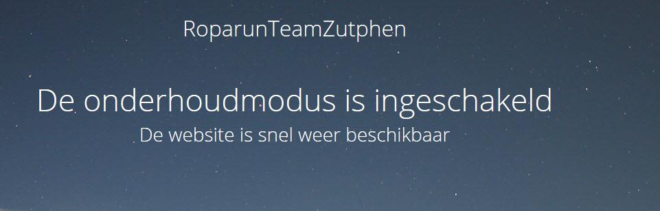 Website RoparunTeamZutphen